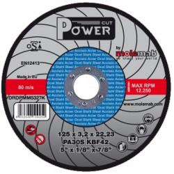 Disque acier inox 125x3.2 POWER