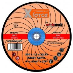Disque acier inox 230x1.9 XFORCE