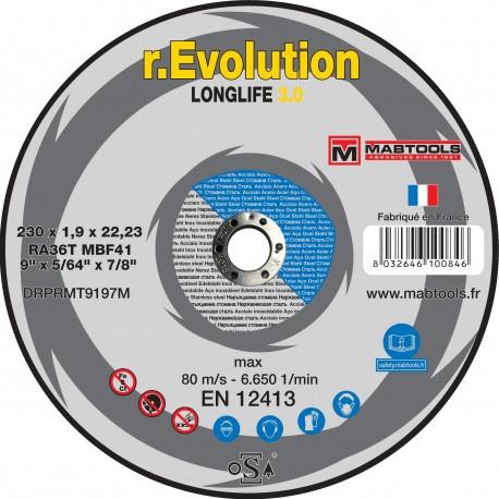 Disque à tronçonner acier-inox 230x1.9x22.2  R.EVOLUTION