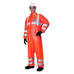 Combinaison jetable haute visibilité orange