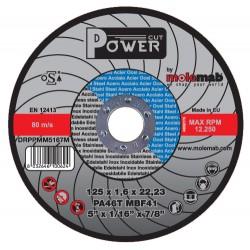 Disque acier inox 125*1.6 power