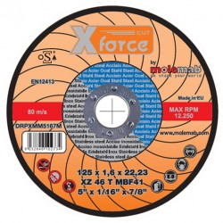 Disque acier inox 125*1.6 XFORCE