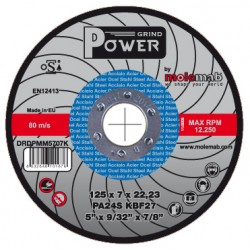 Disques acier inox 125x7 POWER