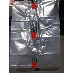 Sacs transparents avec logo amiante imprimé